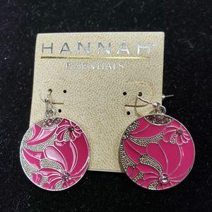4/$24 Hannah Pink Dangle Earrings